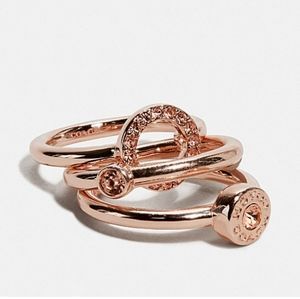 Coach Rose Gold stack ring